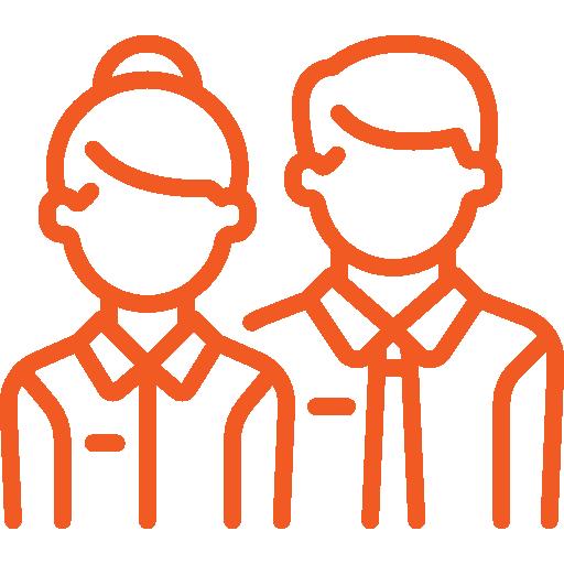 Amplitude icone orange employés