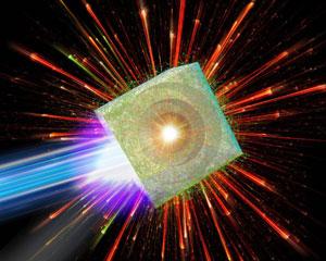 Visual representation of a fundamental physics experiment