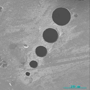 Trous microscopiques