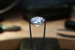close-up on a diamond